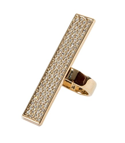 Versace Women's Gold Plated Swarovaski Crystal Ring IT 17, US - For Women Versace Rings