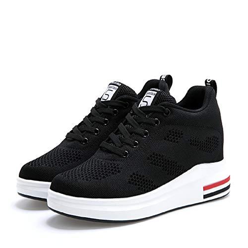 Interna Fitness Ginnastica Basse Nero Donna 8cm Con Scarpe Sportive Zeppa Sneakers Da Lily999 qx6tw1Bzz