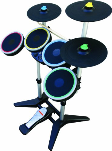 Rock Band 3 Wireless Pro-Drum and Pro-Cymbals Kit for Wii (Wii Version Guitar)