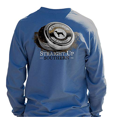 Straight Up Southern Unisex Tobacco Tin-Long-Sleeved Shirt-Indigo-Medium