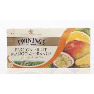Twinings Passionfruit Mango & Orange Flavoured Black Tea 50g. (2g.x25 Sachets)