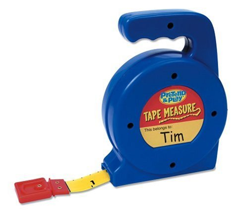Learning Resources Play Tape Measure, 3 Feet Long, Construction Toy, Ages 4+