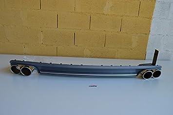 CAIXCAR A5 B8 Difusor cola de escape embellecedor diffuser tailpipe rear bumper: Amazon.es: Coche y moto
