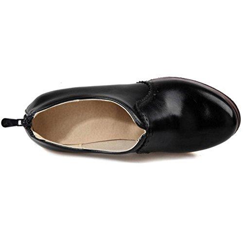 Boots Short Women Coolcept Chunky Black qBwtwfzxp