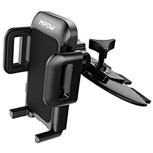 Mpow 051BB Car Phone Mount, CD Slot Car Phone Holder, Car Mount with Three-Side Grips and One-Touch Design Compatible iPhone Xs MAX/XR/XS/X/8/8Plus/7/7Plus/6s, Galaxy S5/S6/S7/S8, Google, Huawei etc