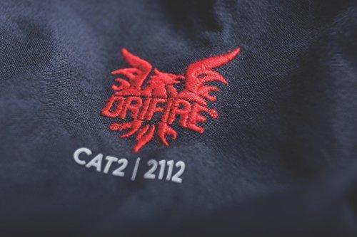 DRIFIRE 4.4 Flame Resistant Dual Hazard CAT2 Lightweight Work Shirt Navy Blue, Size: XL