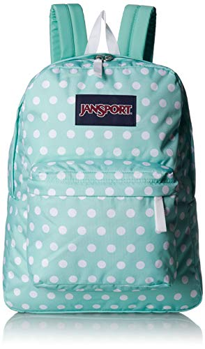 JanSport Superbreak Backpack - Lightweight School Pack, Cascade Polka Dot ()