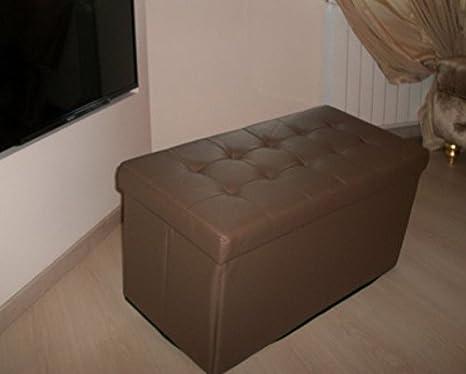 Panca Contenitore Ecopelle : Panca pouf in ecopelle apribile contenitore bianco nero grigio