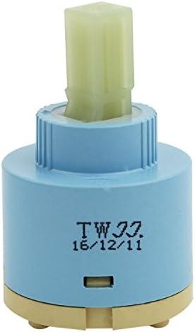 Gaoominy TWJJ40 mmセラミックカートリッジ シングルレバーフィッティングバス/キッチンライトの為 ブルー