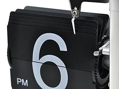 Econoled(TM) Retro Flip Down Clock - Internal Gear Operated