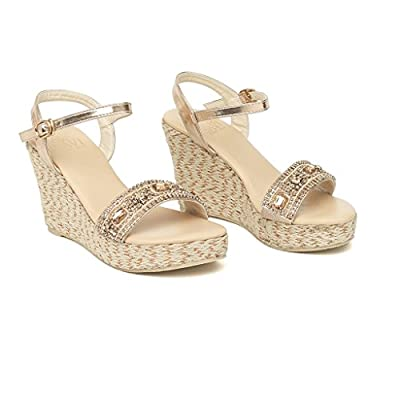 Savi Arrienne jute high wedge champagne