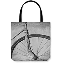 Gear New Tote Bag, Shoulder Tote, Hand Bag, Old Rusty Bicycle Black And White Photo