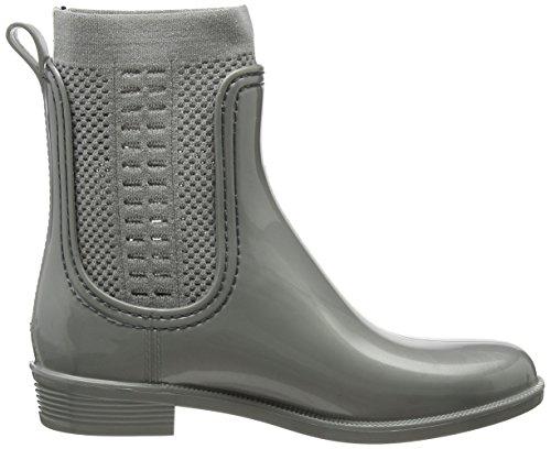 Shiny Damen Knit Rain Tommy Gummistiefel Boot Hilfiger Tommy gtHq5xI