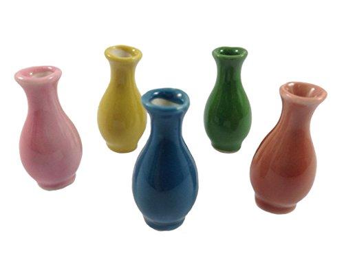 Antique Miniature (5pc Miniatures Ceramic Antique Vase Vintage Furniture Chinese Dollhouse Jar Pot Lot Doll)
