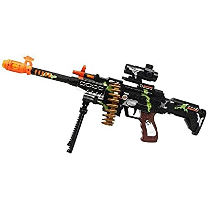 CifToys Combat Military Mission Machine Gun Toy with LED Flashing Lights  and Sound Effects (8626) for Kids Playing