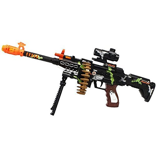 CifToys Combat Military Mission Machine Gun Toy with LED Flashing Lights and Sound Effects (8626) for Kids Playing and Halloween Costumes