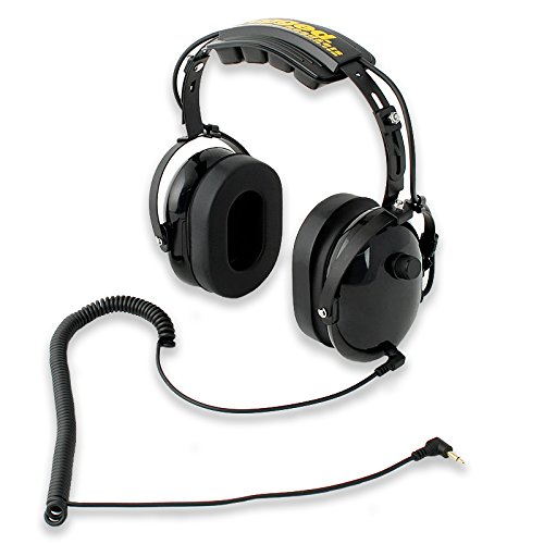 Rugged Radios H20-BLK Over The Head Listen Only Headset with 3.5mm MP3 / Scanner Input Jack