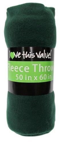 Green Fleece Throw (Imperial 50 x 60 Inch Ultra Soft Fleece Throw Blanket - Dark Green)