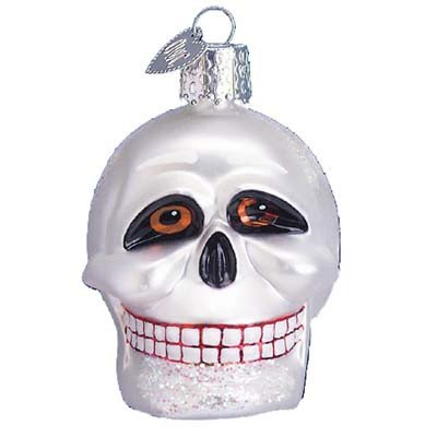 Old World Christmas Skull Halloween Ornament 26021 Merck Family's ()