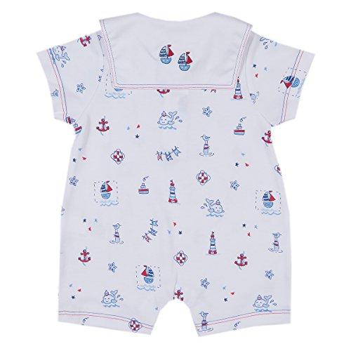 Kissy Kissy Baby-Boys Infant Nautical Blues Print Short Playsuit With Collar