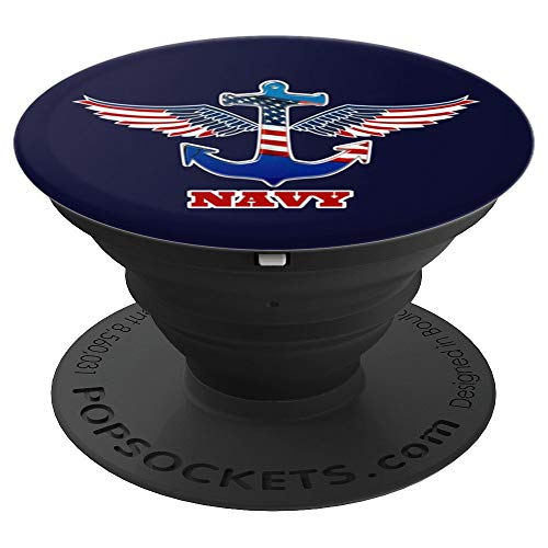 US Navy - American Flag with eagle wings on an Anchor design - PopSockets Grip and Stand for Phones and Tablets