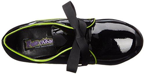 Women's Lime Tes14 B Platform Dress Sandal LM Funtasma Patent Black dFxw85dP