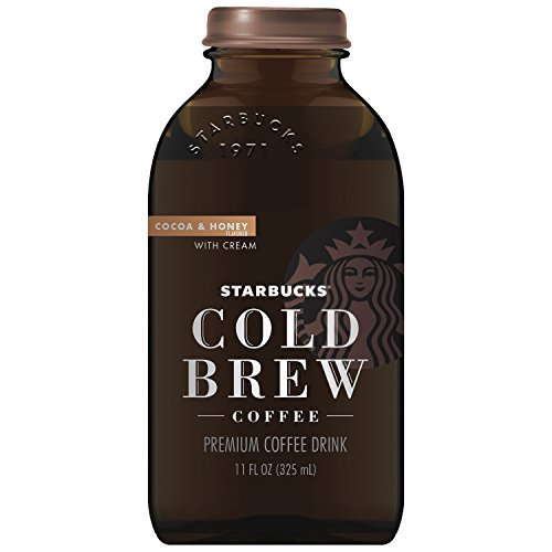 Starbucks Cold Brew Black Coffee, Cocoa & Honey with Cream, 11 oz