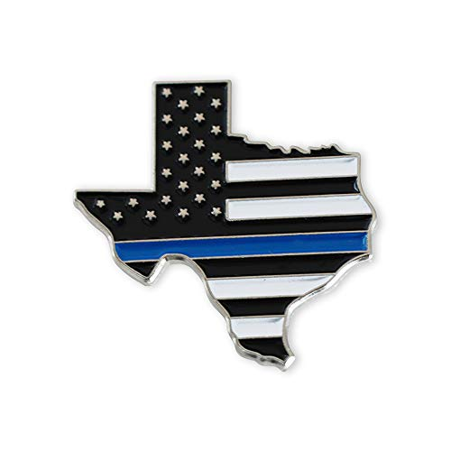 (Forge Texas Blue Lives Matter State Shape Blue Line Lapel Pin (1 Pack))