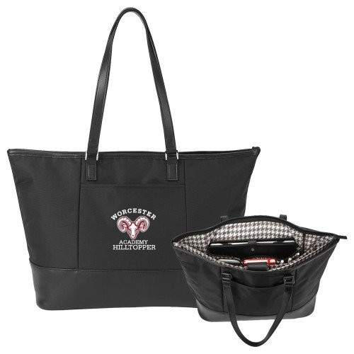 Worcester Academy Stella Black Computer Tote 'Primary Mark' by CollegeFanGear