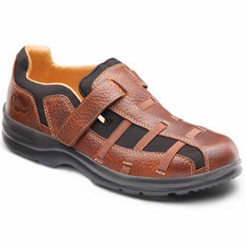 Dr. Komfort Betty Kvinna Terapeutiskt Diabetisk Extra Djup Sandal Läder-och-mesh Kardborrband Kastanj