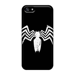 Perfect Hard Phone Covers For Iphone 5/5s With Custom Beautiful Venom Logo Skin JasonPelletier