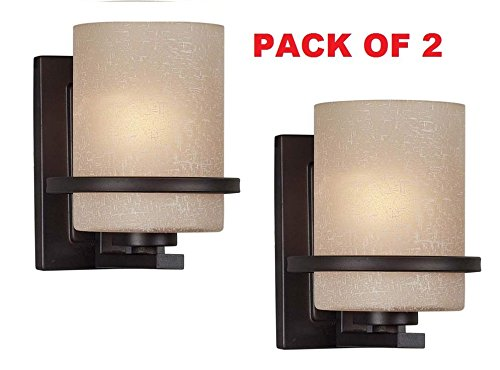 Forte Lighting 2404-01-32 Pack of 2 1-Light Transitional Wall  sc 1 st  Amazon.com & Amazon.com: Forte Lighting 2404-01-32 Pack of 2 1-Light ...