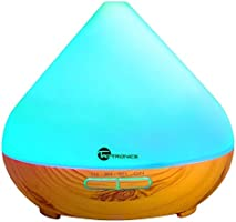 Diffusers for Essential Oils, TaoTronics 300ml Ultrasonic Humidifiers with Wood Grain, Cool Mist Aroma Diffuser with 7...