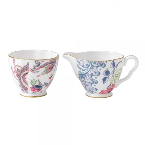 - Wedgwood Harlequin Butterfly Bloom Ceramic Creamer and Sugar Cup