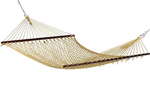 (Caribbean Rope Hammock - 55 Inch - Soft-Spun Polyester (tan))