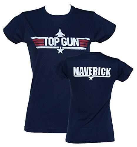 (Womens Navy Top Gun Maverick T)