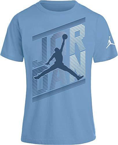 (NIKE Air Jordan Boys' Dri-FIT T-Shirt (Cobalt Bliss, Large))