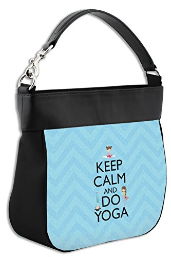 Leather Yoga Genuine Keep Do Calm Trim Front Hobo w amp; Purse atR08xRqw