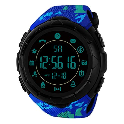 Men's Watches,Fxbar Military Use Men Sport Analog Dive Watch Outdoor Smartwatch 24h All-Weather Monitoring Men Watch(B)