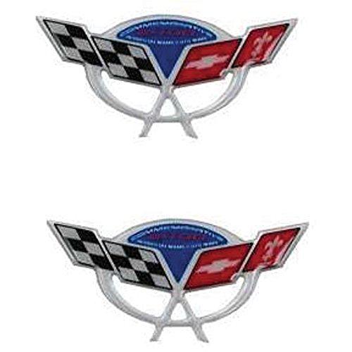 - Eckler's Premier Quality Products 25-286867 Corvette C5 Lemans Commemorative Edition 3D Domed Logo Decals 2.375