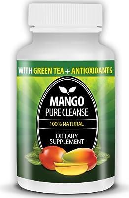 Mango Pure Cleanse #1 Best African Mango Extract Plus Green Tea for Quick Weight Loss, Lean Fat Burn Fit Detox Diet Pills Advanced Premium All Natural Blend Supplement Irvingia Gabonensis