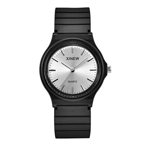 Luxury Men Sport Watches, Yezijin Ultra-Thin Unisex Children Sports Watch Silicone Watch Analog Quartz Wristwatch for Father Men Kids Youth Teens Boyfriend Lover