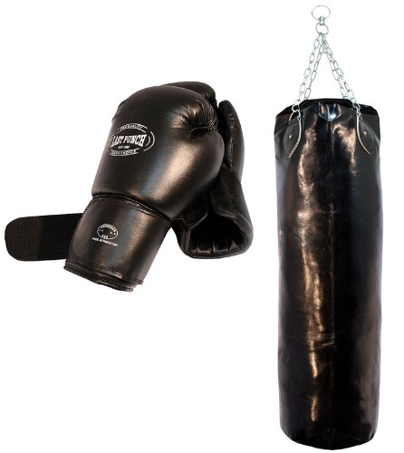 Last Punch Heavy Duty Pro Boxing Gloves & Pro Huge Punching Bag with Chains New Punching