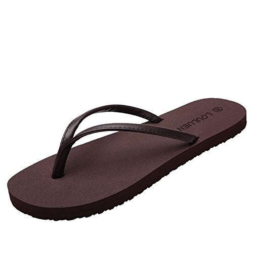 shoes antiscivolo da da Marrone spiaggia Marrone uomo da uomo Color Jiuyue per e Flip Scarpe flop da Dimensione EU minimalista sandali donna 39 SOwtvtqAdx