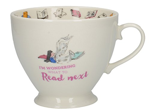 CreativeTops Roald Dahl Footed China Mug with Quentin Blake Matilda Illustration, Porcelain, White/Multi-Colour, 13.5 x 10.5 x 8.5 cm