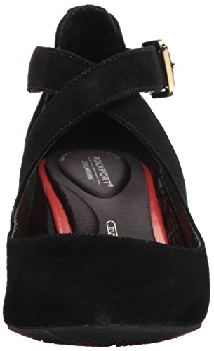 Rockport Donna Total Motion Salima Cross Pump Nero Scamosciato