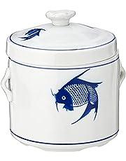 Ciya Blue Carp Porcelain Steam Pot