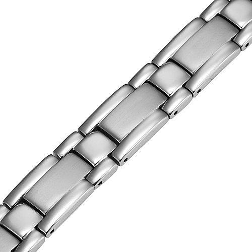 Nouveauté : Bracelet Aimanté homme en titane, Boîtier velours et Ustensile ajusteur inclus