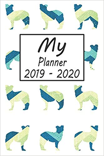 My Planner 2019 - 2020: Australian Shepherd Dog Blue Pattern ...