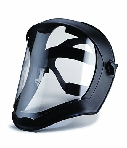 Uvex Bionic Face Shield with Clear Polycarbonate Visor and Anti-fog Hard Coat by Uvex